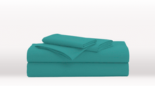 Turquoise King Size Luxury Sheet Set