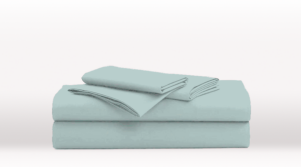 Aqua Single Size Classic Sheet Set