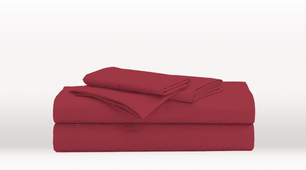 Burgundy King Single Size Classic Sheet Set