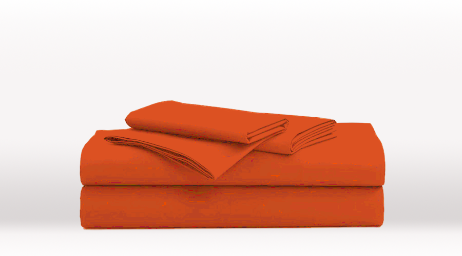Orange Queen Size Classic egyptian cotton sheet Set