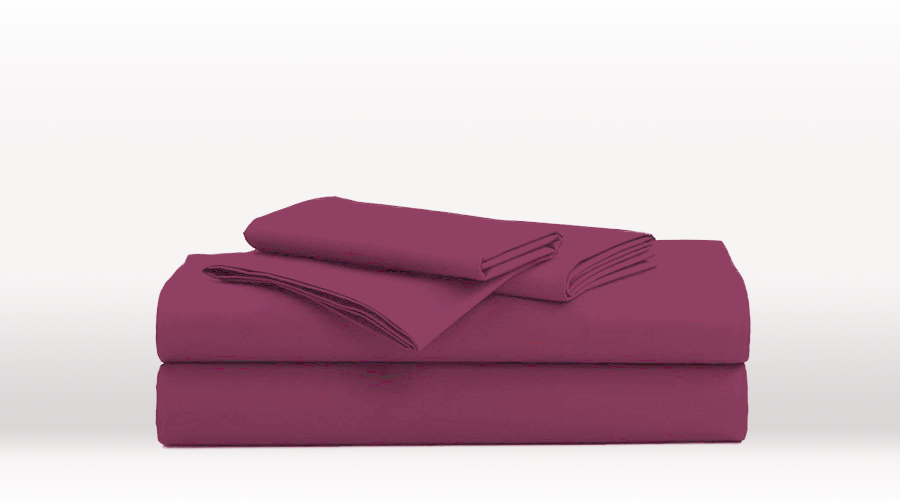 Purple King Single Size Classic egyptian cotton sheet Set