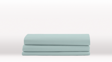 Aqua Queen Size Classic Fitted Sheet