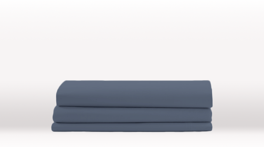 Blue Single Size Classic Flat egyptian cotton sheet