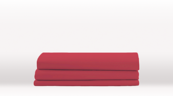 Burgundy King Single Size Classic Flat Sheet