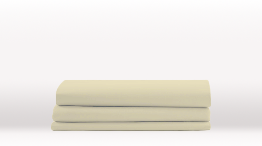 Cream Single Size Classic Flat egyptian cotton sheet