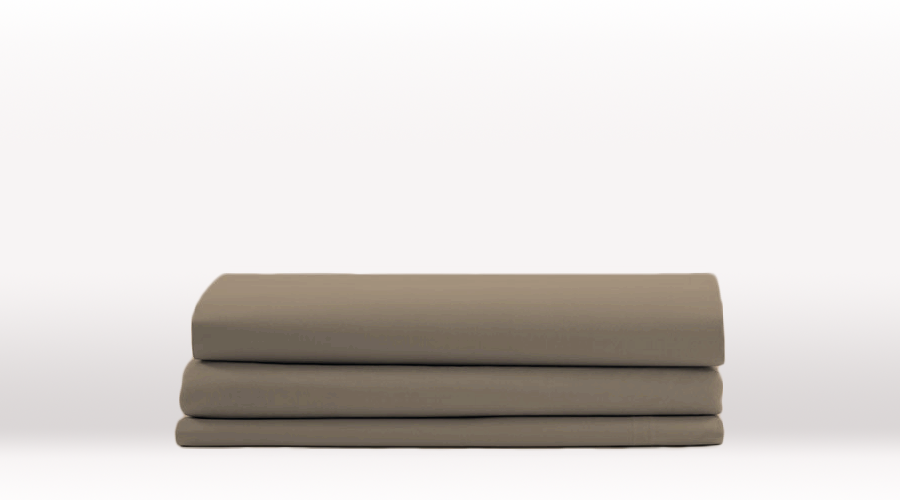 Grey Double Size Classic Fitted egyptian cotton sheet