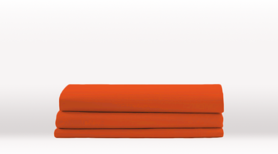 Orange Queen Size Classic Flat egyptian cotton sheet