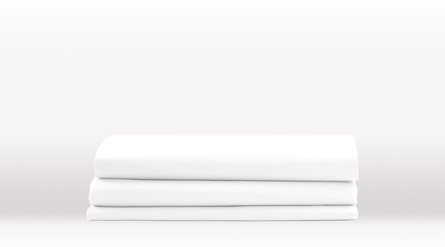 White Single Size Classic Flat egyptian cotton sheet