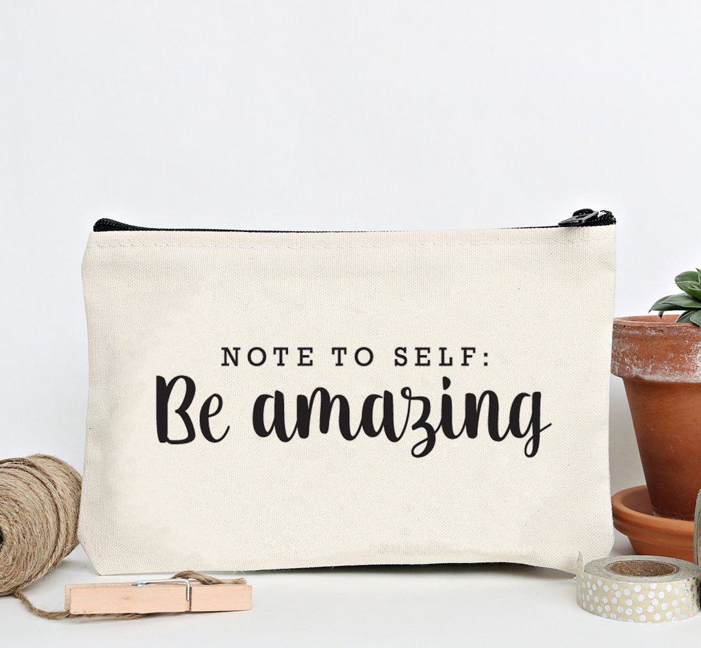 """Be Amazing"" Zip Pouch 1"