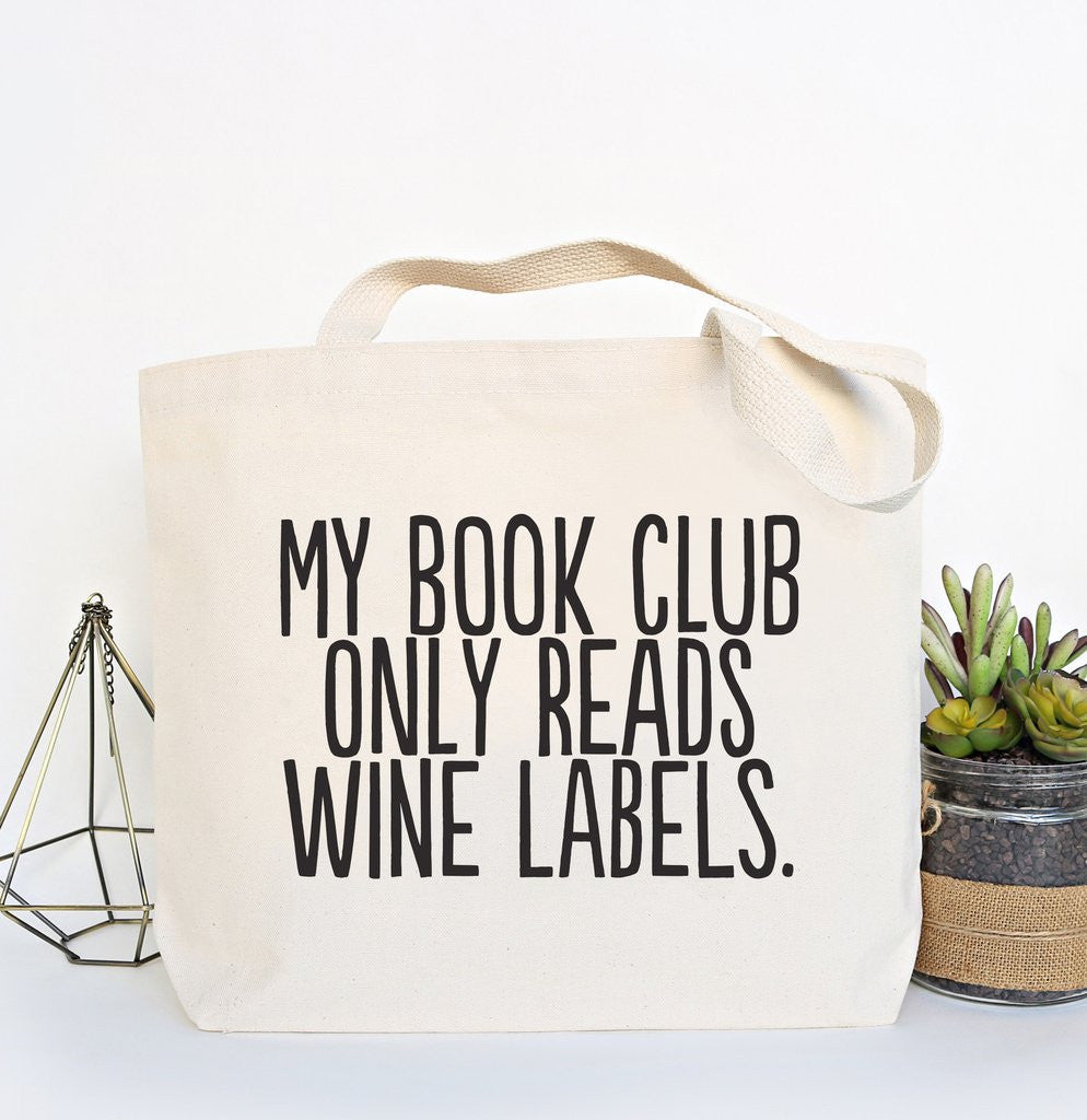 """Book Club"" Canvas Tote 1"