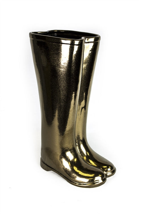 Bronze Ceramic Boots Umbrella Stand/Vase