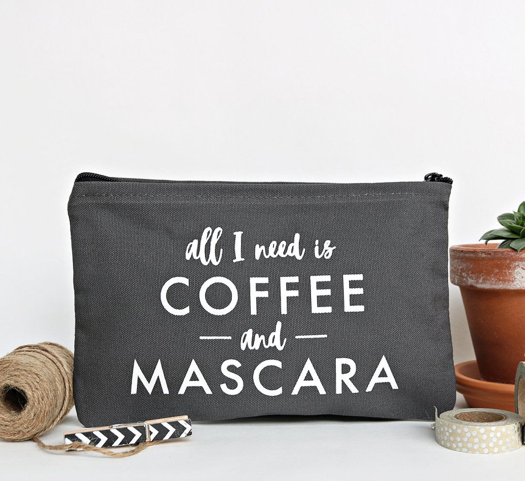 """Coffee & Mascara"" Zip Pouch"