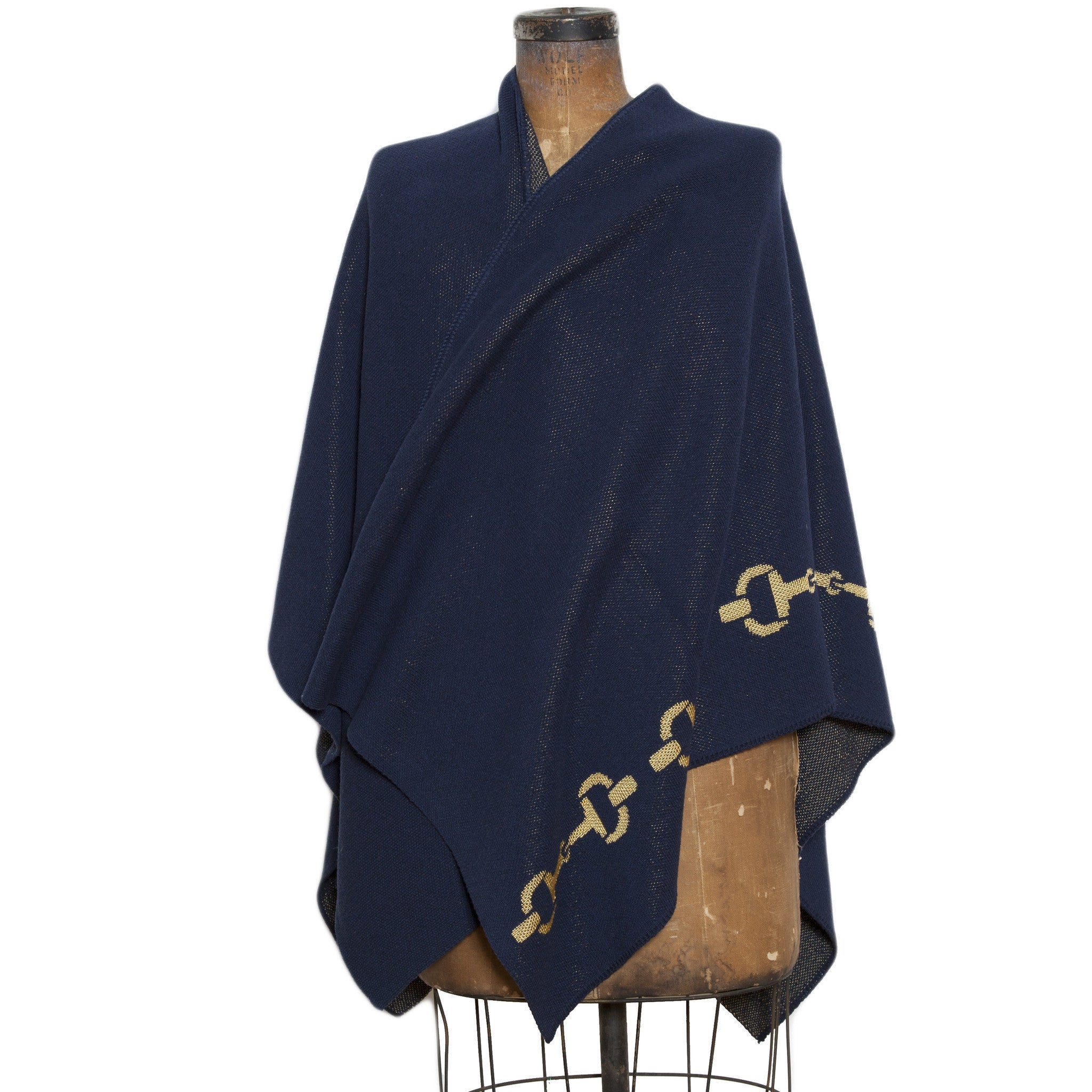 Eco Horse Bit Wrap Navy/Gold
