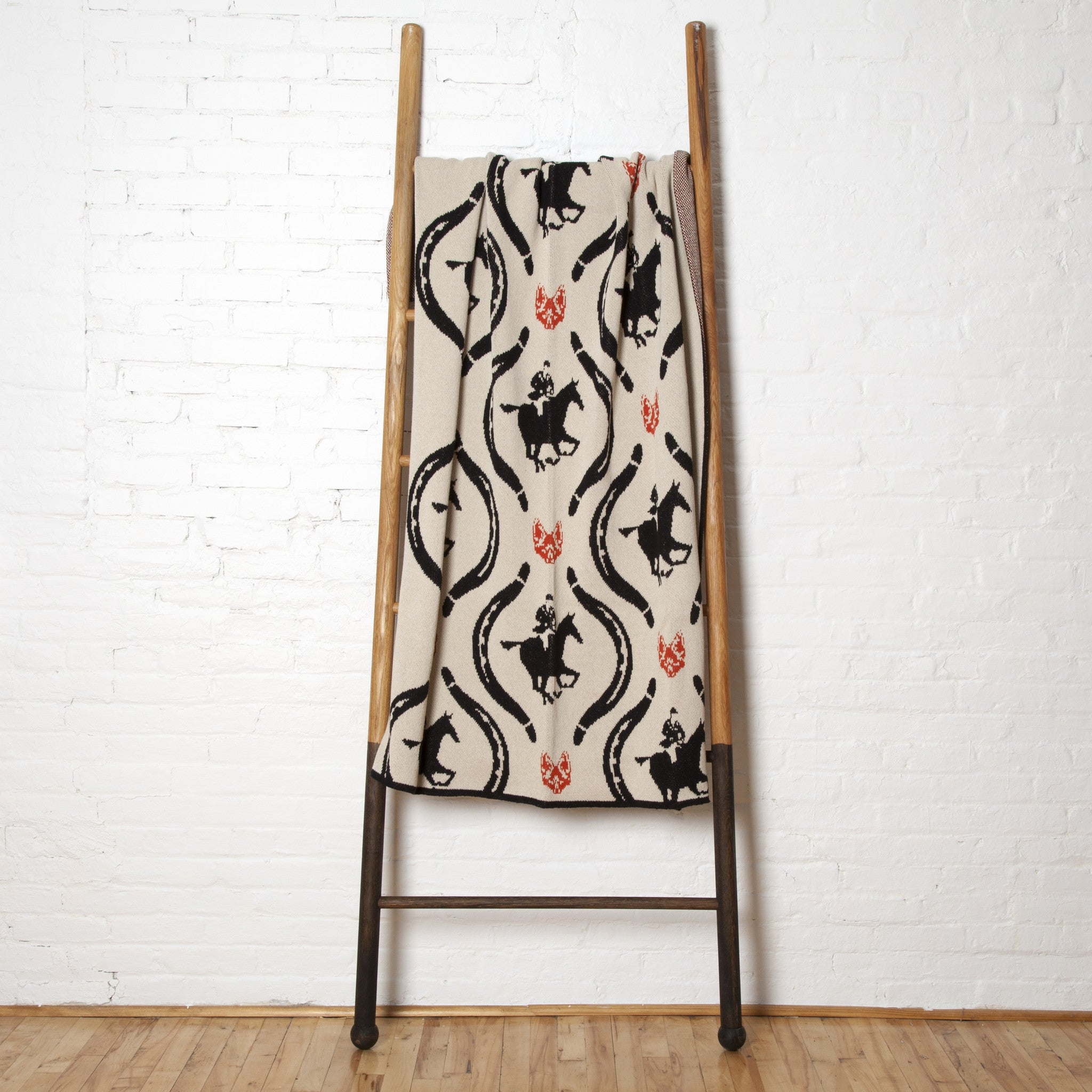 Eco Hunt Throw Flax/Black/Spice
