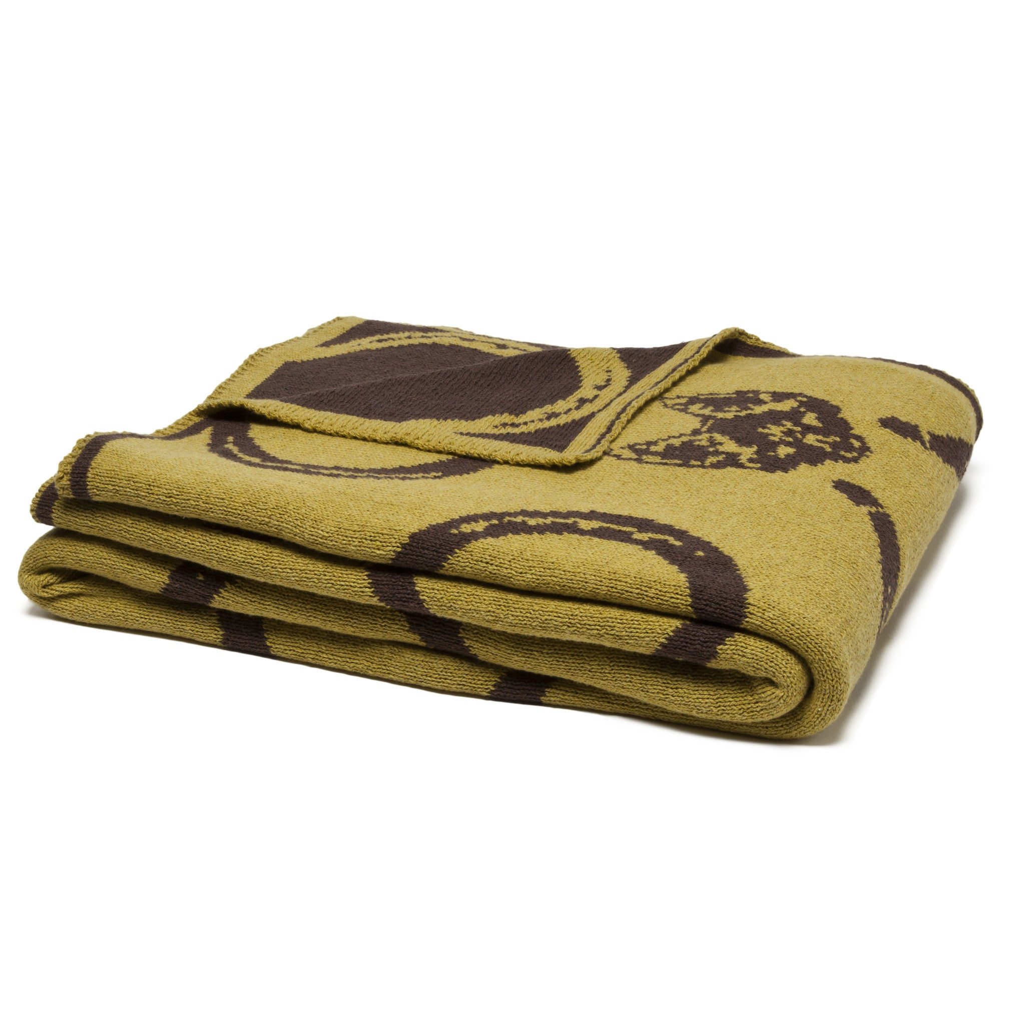 Eco Mr. Fox Reversible Throw Moss/Chocolate