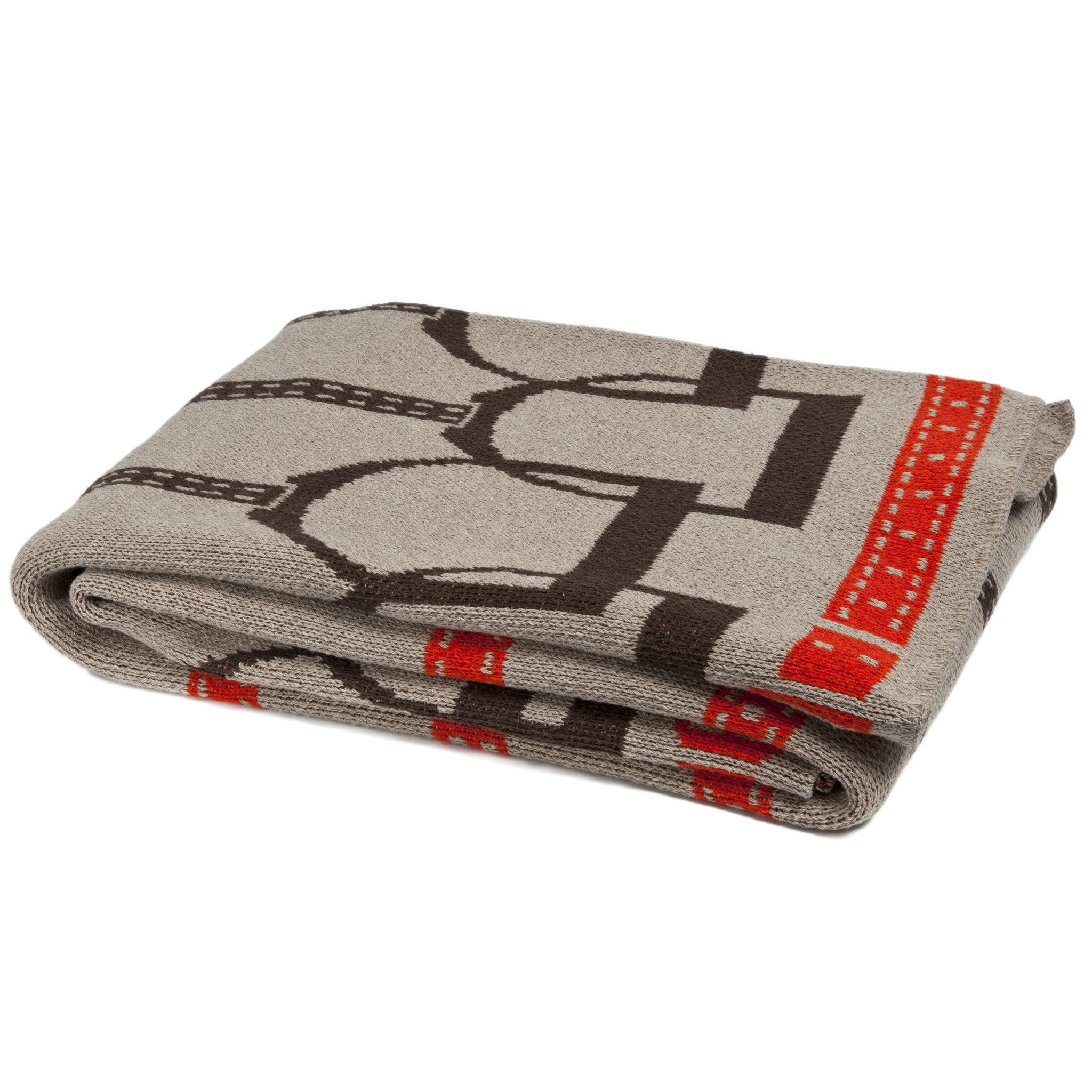 Eco Stirrup Throw Khaki/Black/Spice