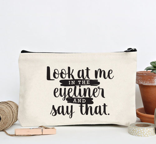 """Look at Me"" Zip Pouch"