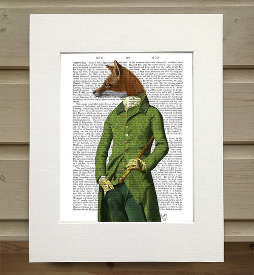 Fox in Green Jacket Book Print