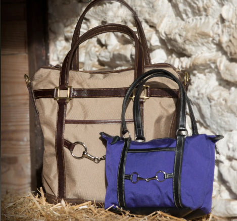 Cordura & Leather Halter Tote Bag