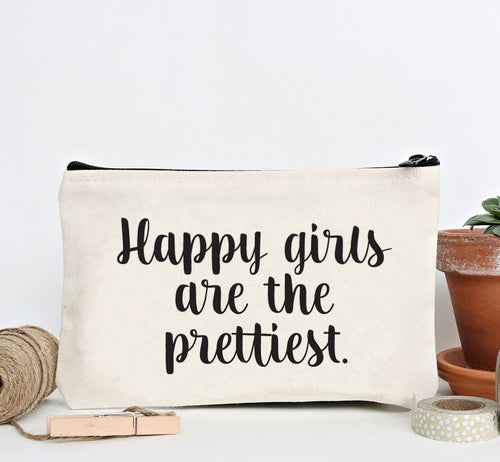 """Happy Girls"" Zip Pouch"