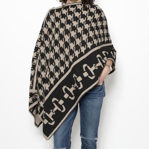 Hounds-tooth Bit Poncho*