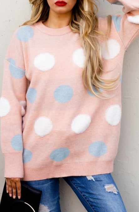 Polk Dot Loose Fit Sweater