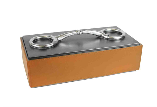 Brown Polyresin Snaffle Bit Box