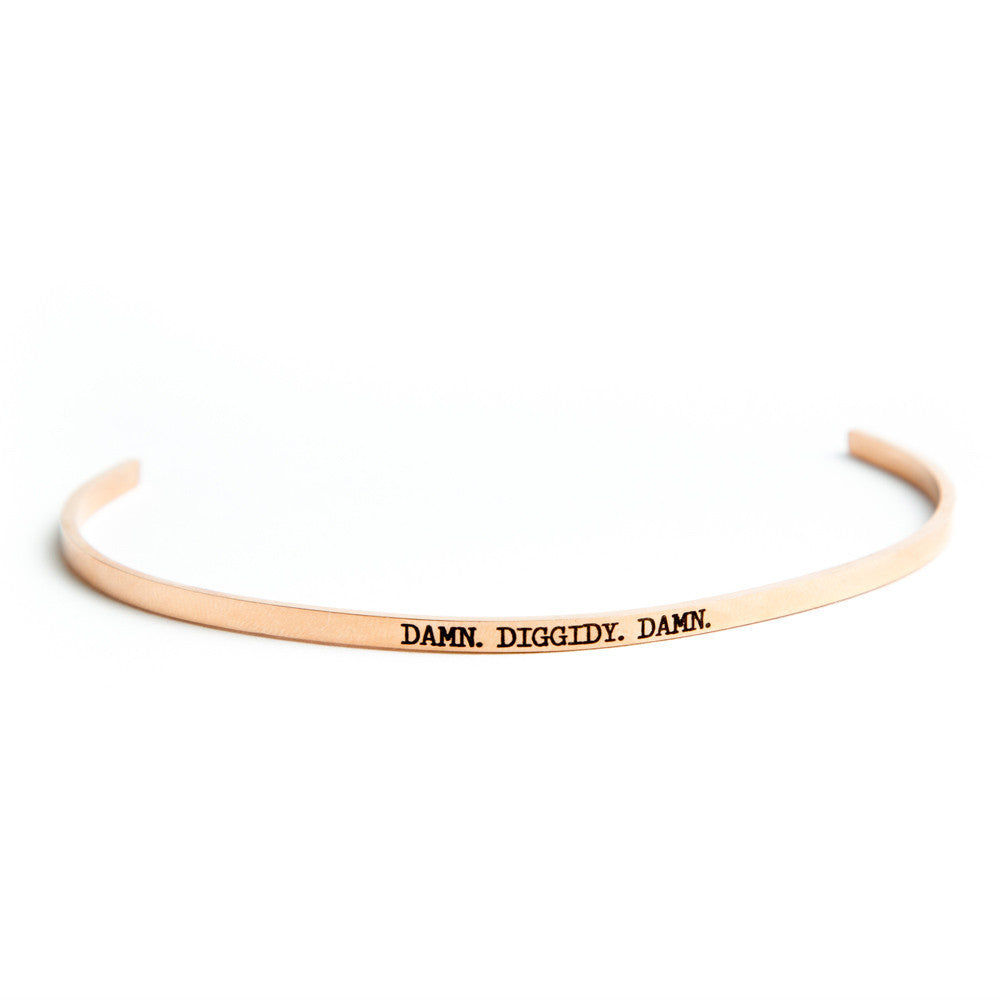 """Triple D"" Delicate Bangle Rose Gold"