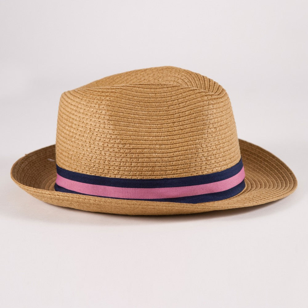 Preppy Stripe Fedora