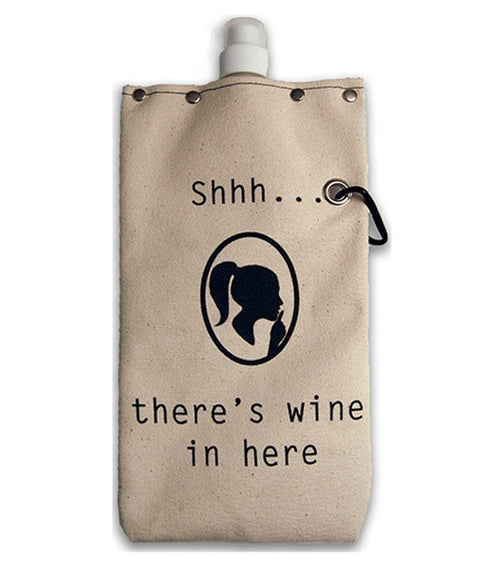 """Shhh... there's wine in here "" Wine Flask"