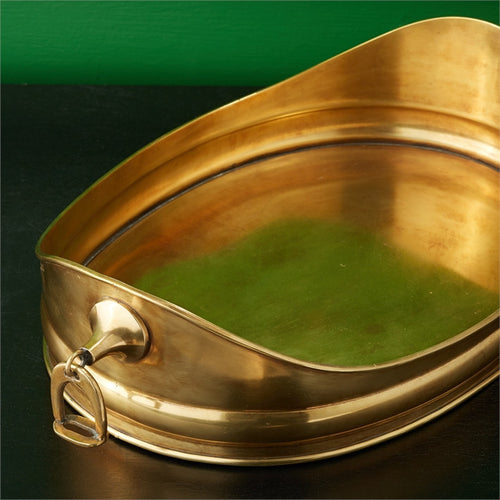 Antique Gold Finished Stirrup Tray