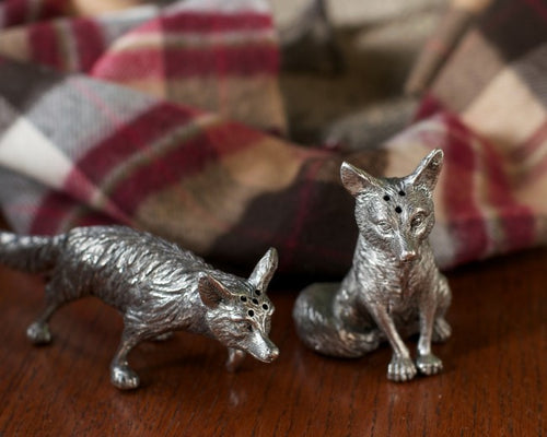 Pewter Foxes Salt & Pepper Set