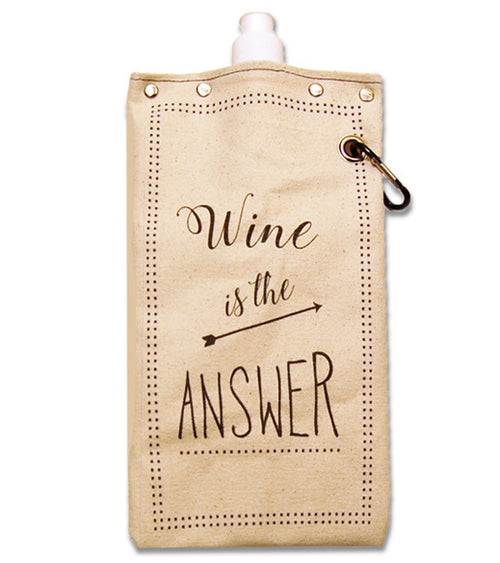 """Wine is the Answer"" Wine Flask"