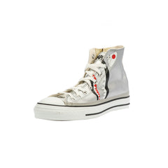 Bape Shark Shoes High l silver