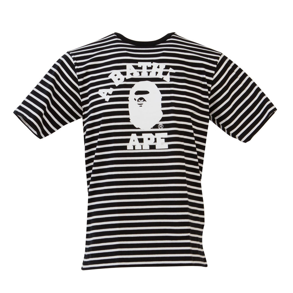 Stripe Pocket College Tee