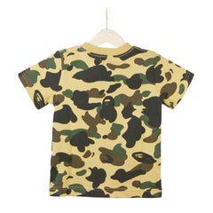 Bape Kids College Tee l yellow camo/white