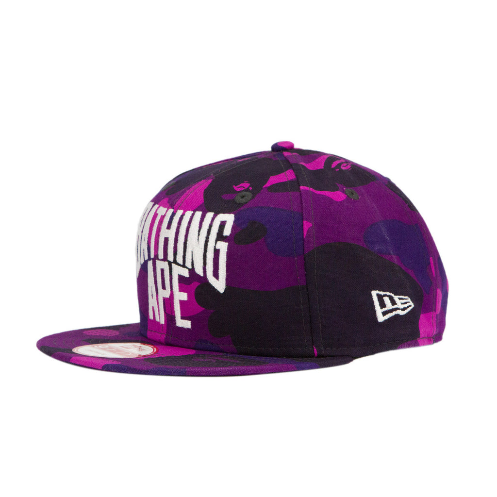 Bape Snapback l purple camo/new era