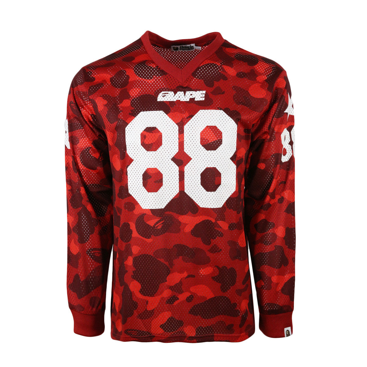 Bape Hockey Jersey L Red Camo
