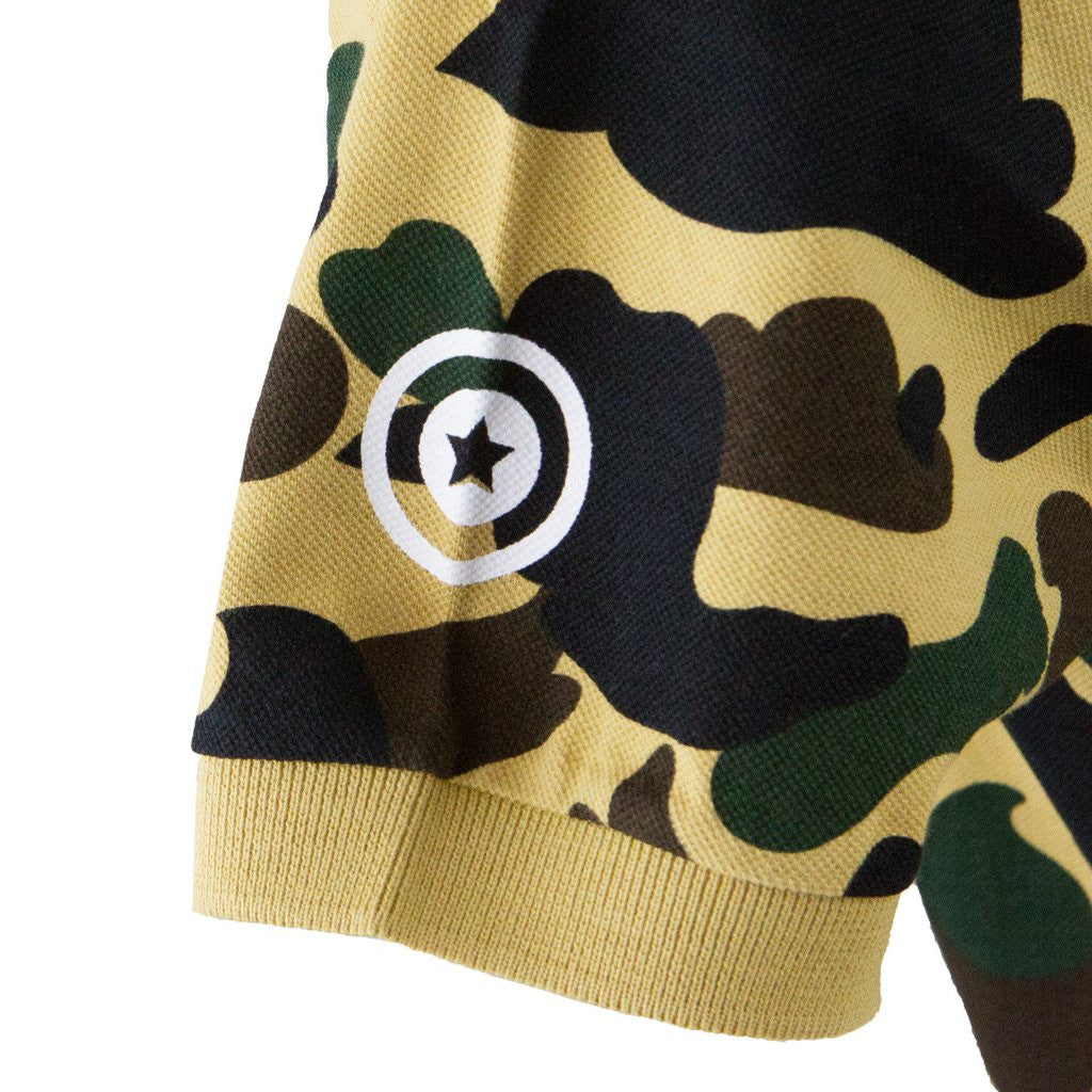 Bape Shark Polo l yellow camo