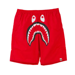 Bape Shark Swim Shorts l red