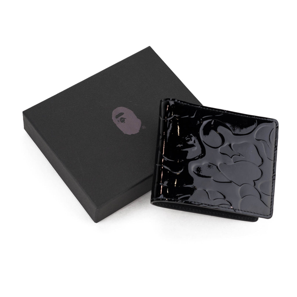 Bape Wallet l black camo/leather