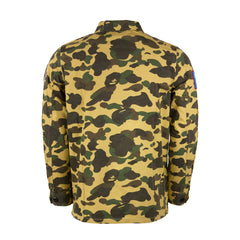Bape Army Shirt l yellow camo/logo