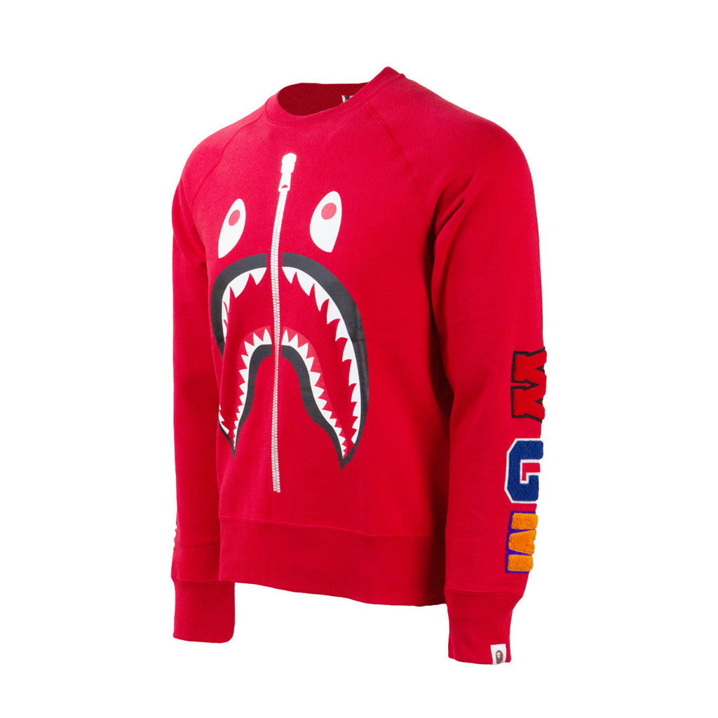 Bape Shark Crewneck l red