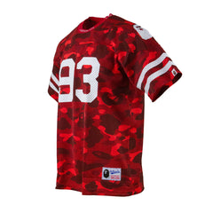 Bape Football Jersey l red camo