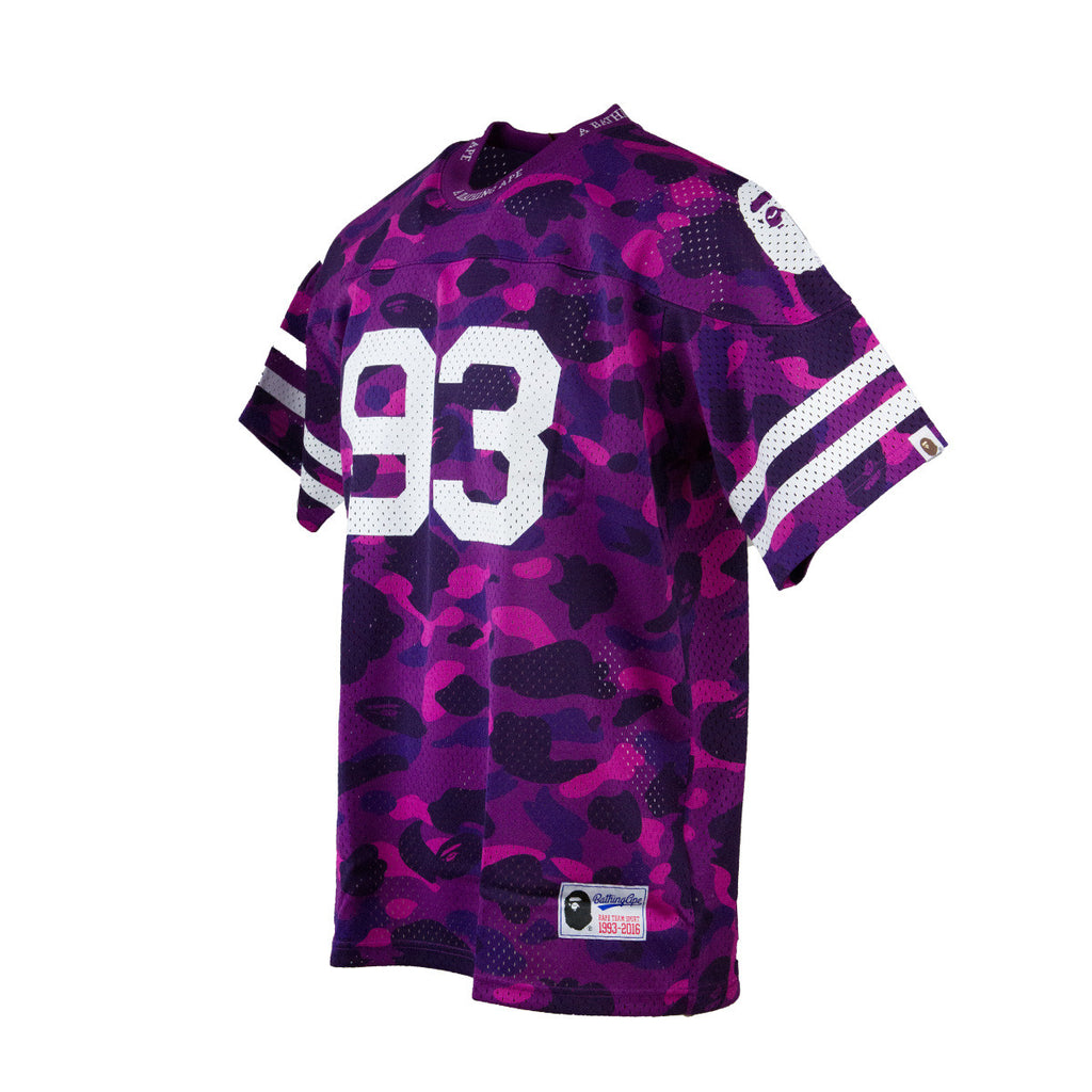 Bape Football Jersey l purple camo