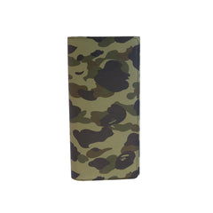 Bape Long Wallet l green camo/leather