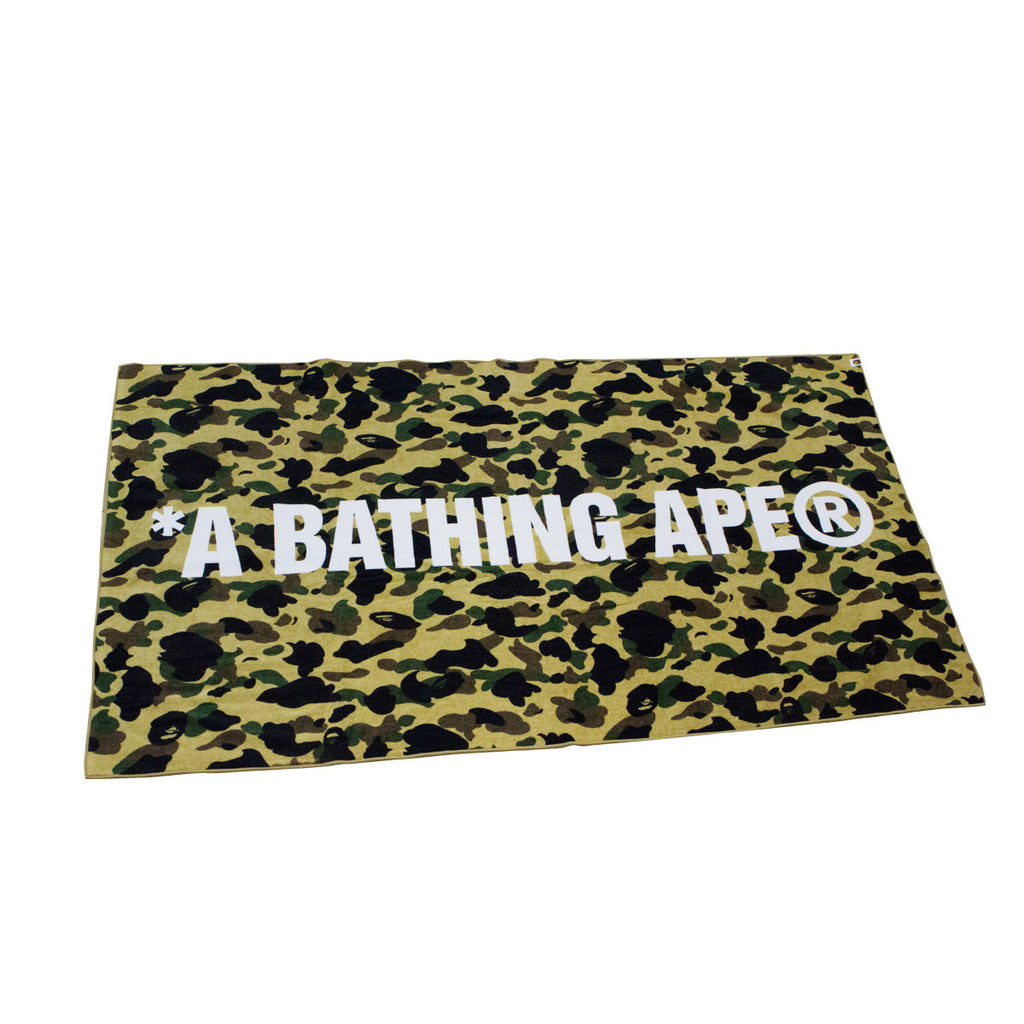 Bape Beach Towel l yellow camo