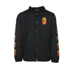 Bape Ape Head Anorak Jacket l black/red flame/hood