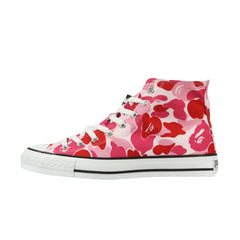 Bape Shoes High l pink camo