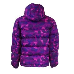 Bape Down Hoodie Jacket l purple camo